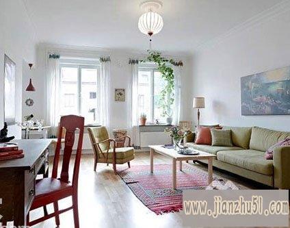 都市白领单身公寓设计图片欣赏,只有50平方一房一厅的房屋