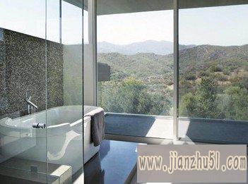 2012卫生间隔断门效果图片欣赏,设计个性现代风格的卫浴间