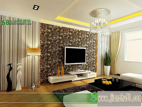 高清客厅电视墙装修效果图大全2013图片三 52款迷人客厅电