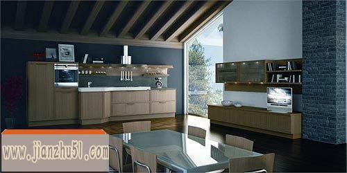 45款黑白搭配的现代厨房装修效果图大全 20xx黑与白整体厨